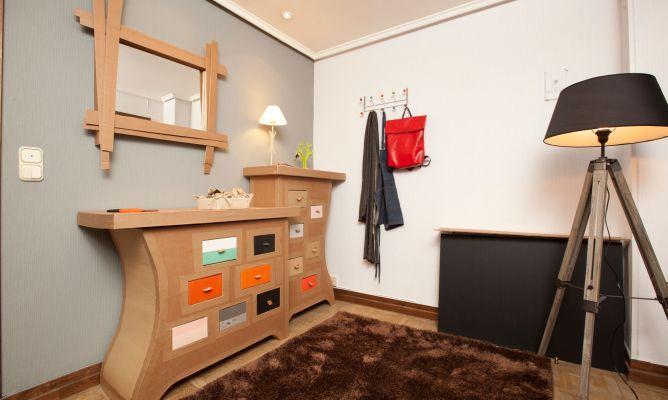 Recibidor Original Y Economico Decogarden Muebles De Carton Recibidores Originales Muebles Con Material Reciclado