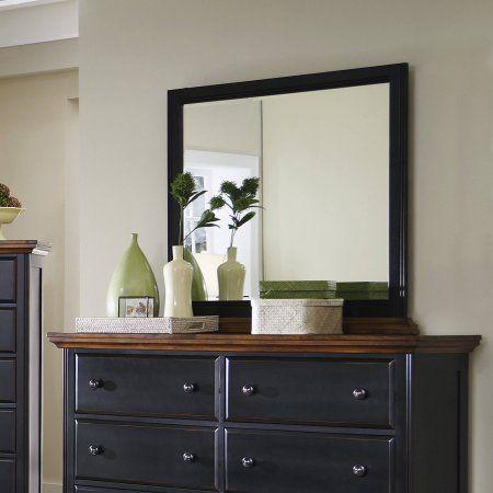 Coaster Company Mabel Collection Mirror, Merlot/Black