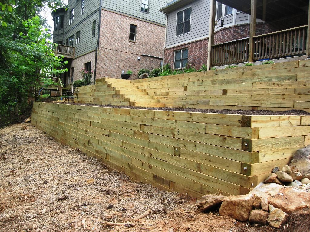 How To Build A Retaining Wall On Steep Slope Home