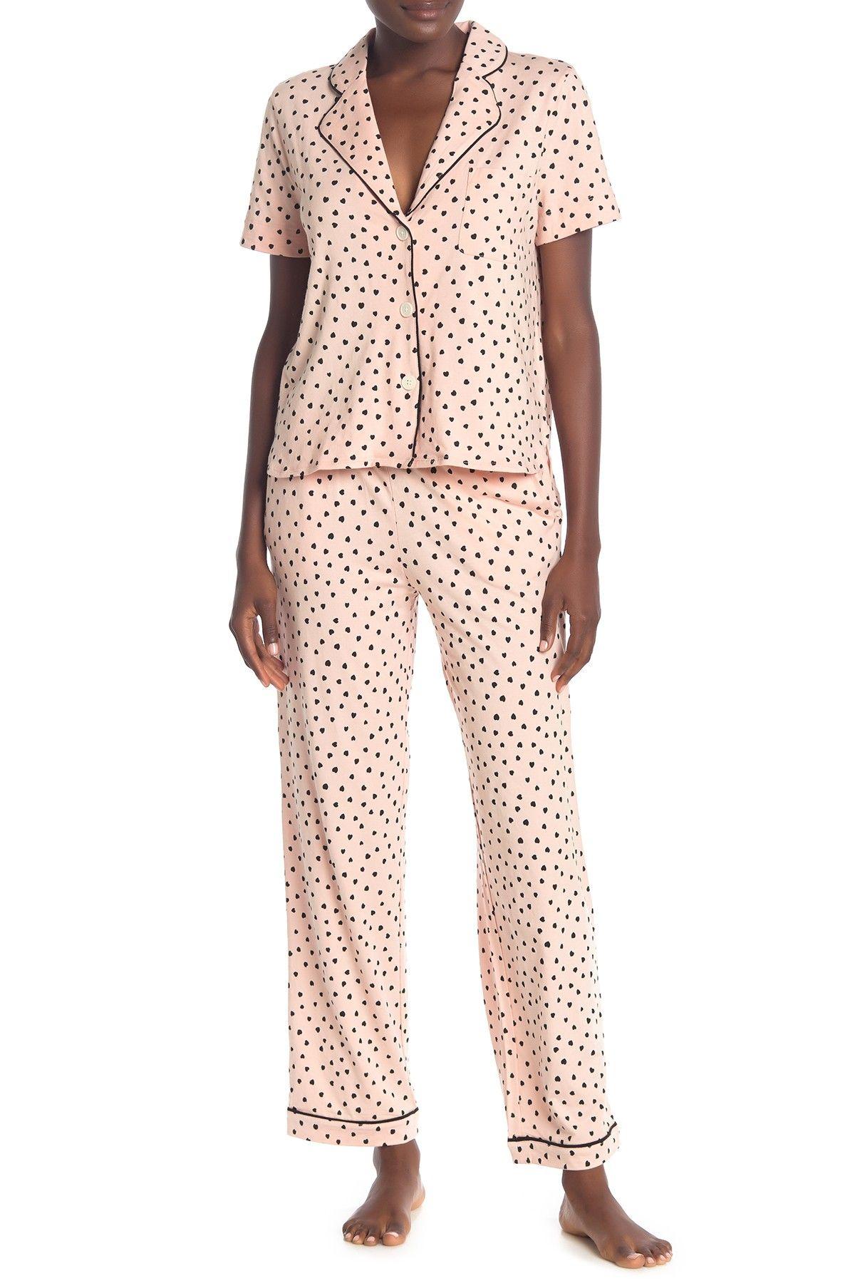Madewell | Bedtime Heart Print Top & Pants Pajama 2-Piece Set #nordstromrack
