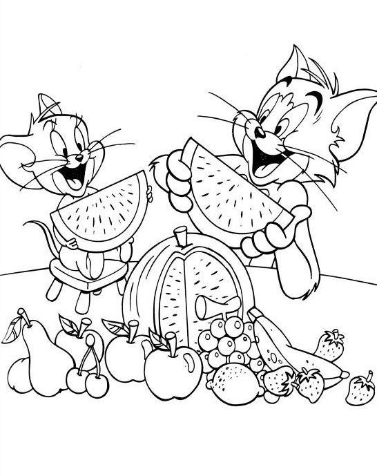 malvorlagen tom und jerry cartoon
