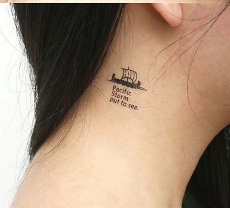 Unique Small Tattoos Google Search Neck Tattoo Unique Small Tattoo Ship Tattoo
