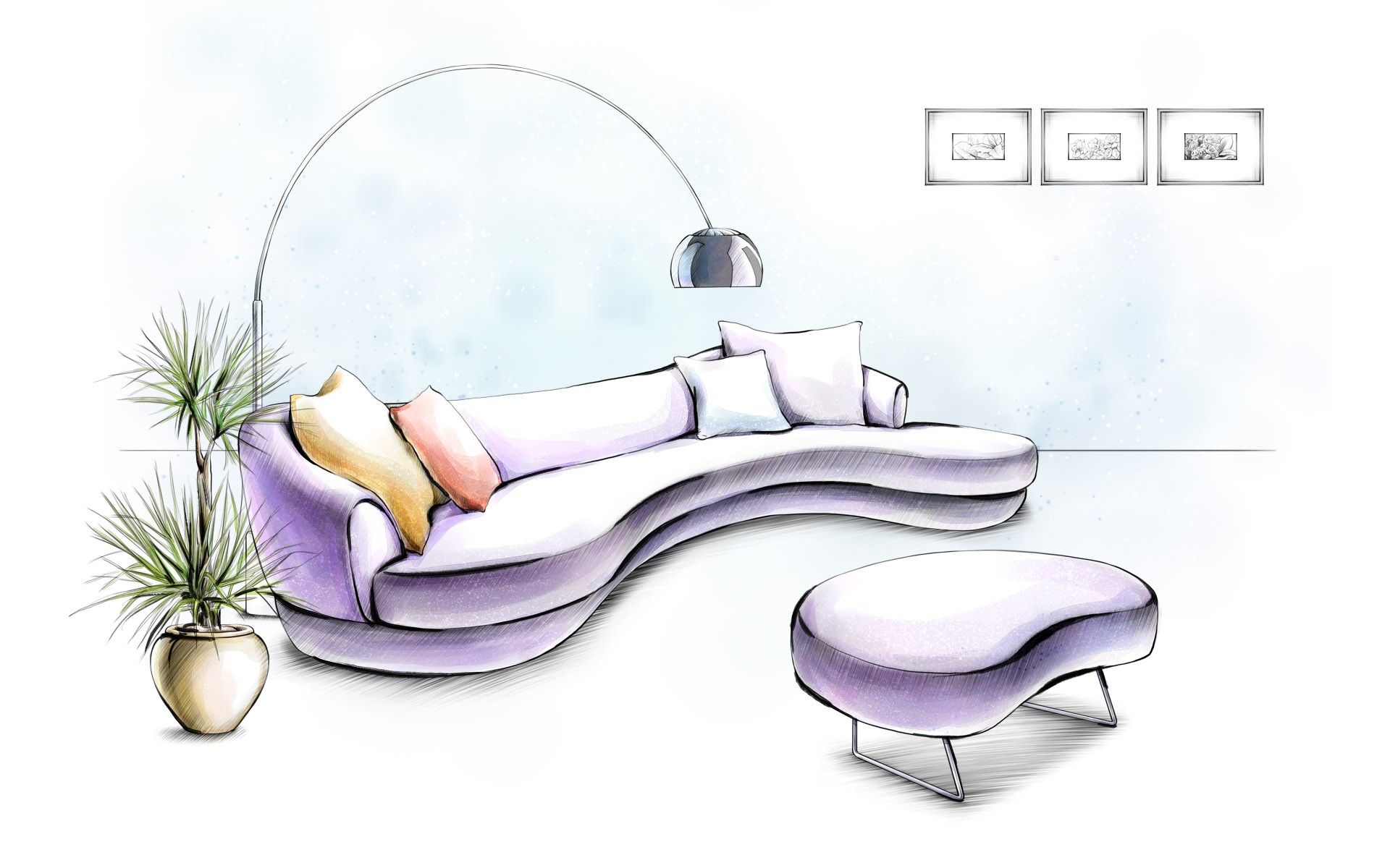 design drawings furniture interior wallpaper (#1051587