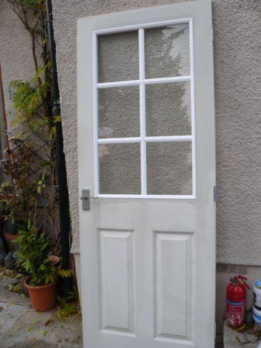 Of White Internal Grained Half Glazed Door House Ideas Random