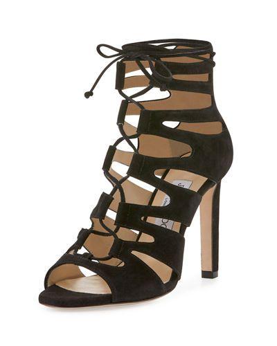 ce075e6acad PRADA Suede Multi-Strap Sandal