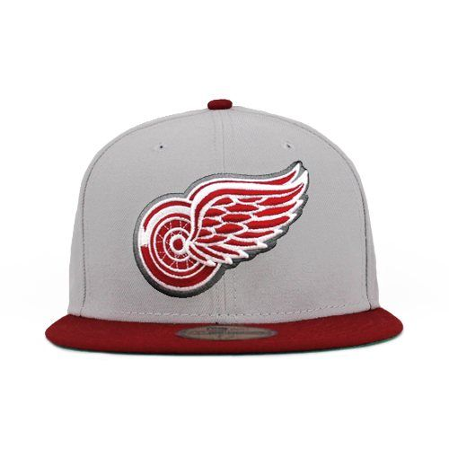 new concept 18e56 48699 Detroit Red Wings Gray   Cardinal (Green Under) 59fifty 5950 New Era Cap