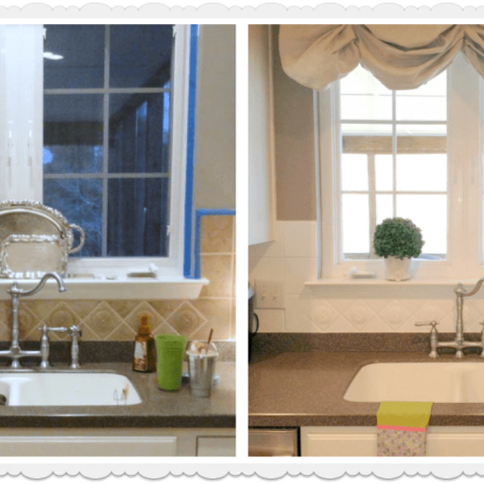 How To Paint A Ceramic Tile Kitchen Backsplash And How Its Held Up