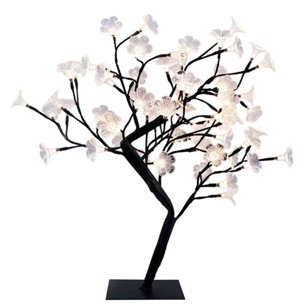 Simple Designs 23 62 In Black Led Cherry Blossom Decorative Lighted Tree Nl2008 Blk The Home Depot Tree Lamp Decorative Lighting Design Led Table Lamp