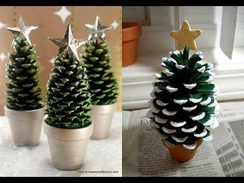 Manualidades para Navidad Arbolito de Navidad con Piñas de pino - manualidades para navidad