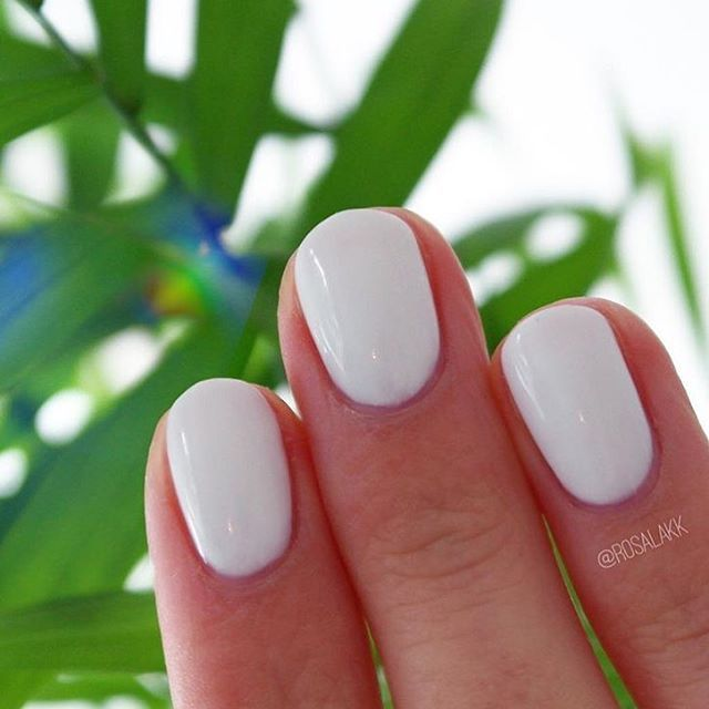 Loving this SensatioNail \'White Lily\' mani for an easy transition ...