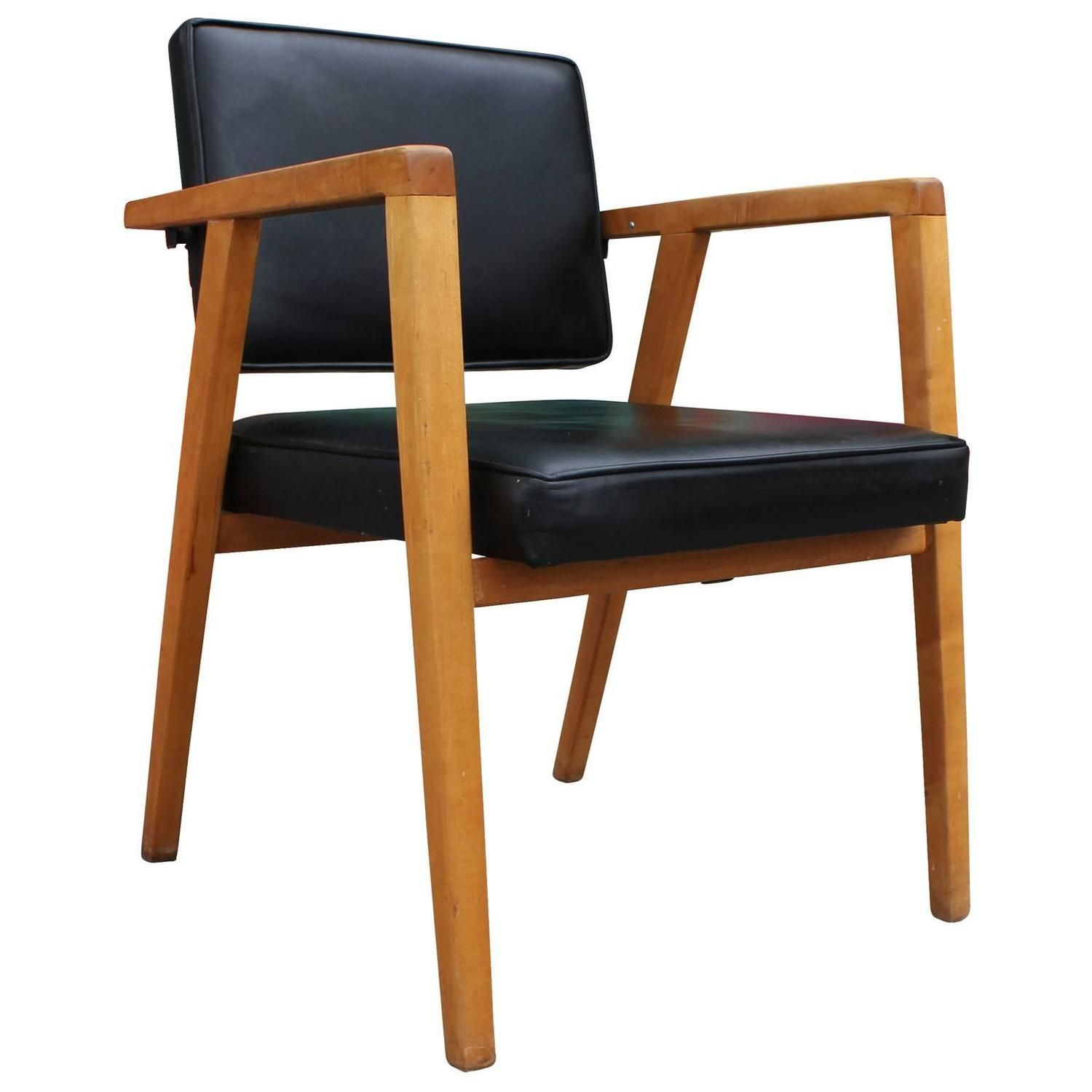 Best Franco Albini For Knoll Armchair In Black Leather From A 640 x 480