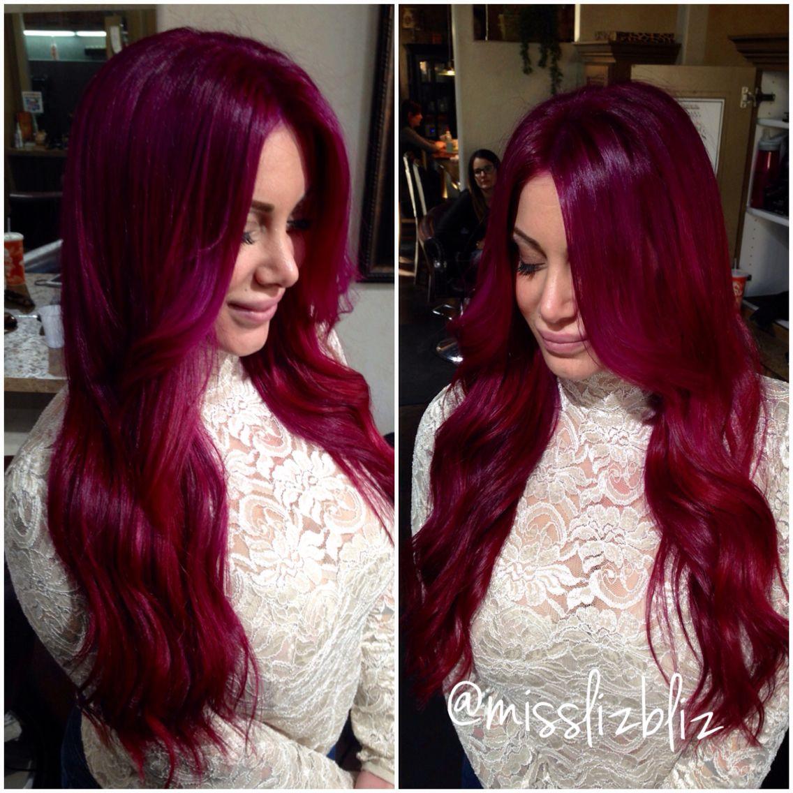 Raspberry Lush Crush curl up and dye Pinterest Cabello