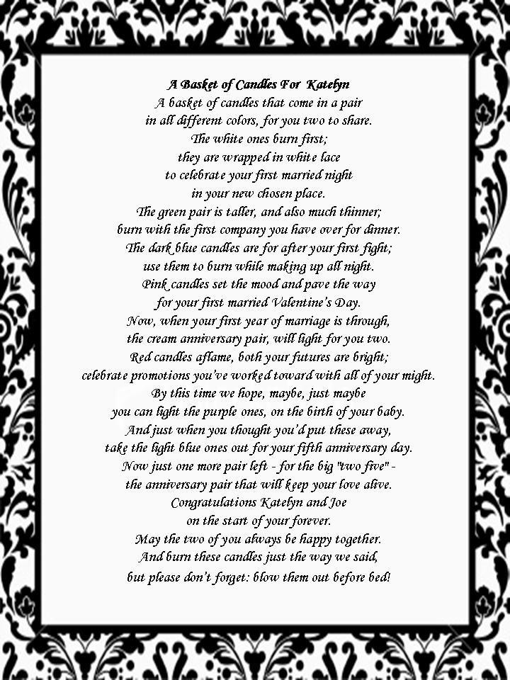 purple princess bridal shower invitations bridal shower gift candle poem basket the ny melrose family