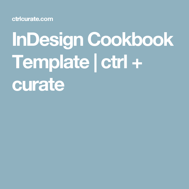 Indesign Cookbook Template  Cookbook Template Template And Journal