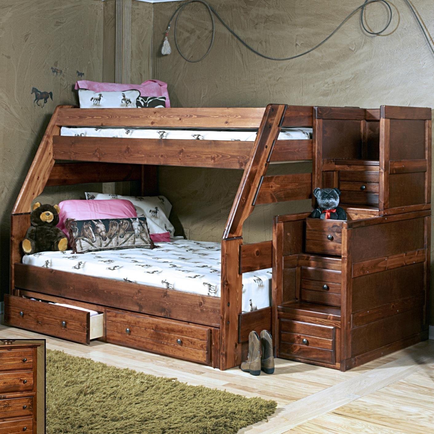 Sedona Sedona Bunk With Storage Stairs By Trendwood Bunk