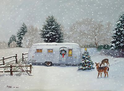 Vintage 1955 airstream flying cloud travel trailer for Airstream christmas decoration