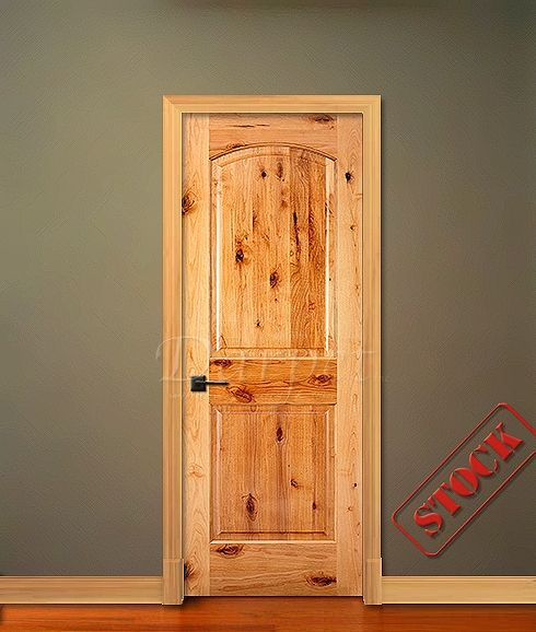 2 panel arch top knotty alder rustic 6 39 8 80 darpet for Knotty alder wood doors