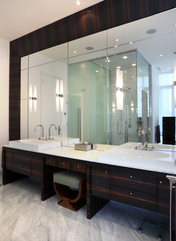 large double sink vanity. Large Twin Sink Bathroom Cut Glass Mirrors Struttura Fiammata Timber