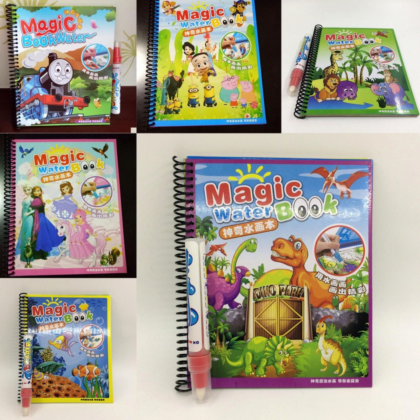 Water Coloring Activities Lovely Magic Water Drawing Book Kids Painting Book Water Coloring Drawing Books For Kids Drawing For Kids Cartoon Coloring Pages