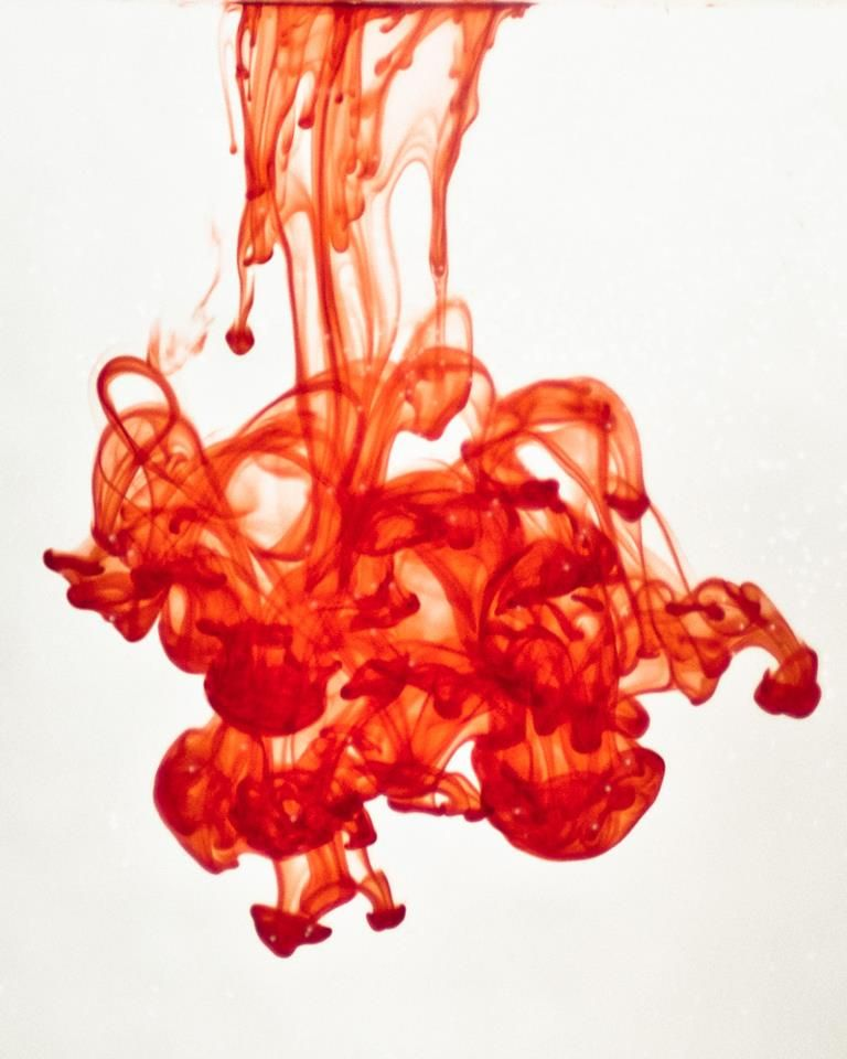 Falling Mushrooms (1 drop of red food coloring in water ...