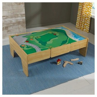 KidKraft Wooden Train Table - Natural, Black | Products | Pinterest ...