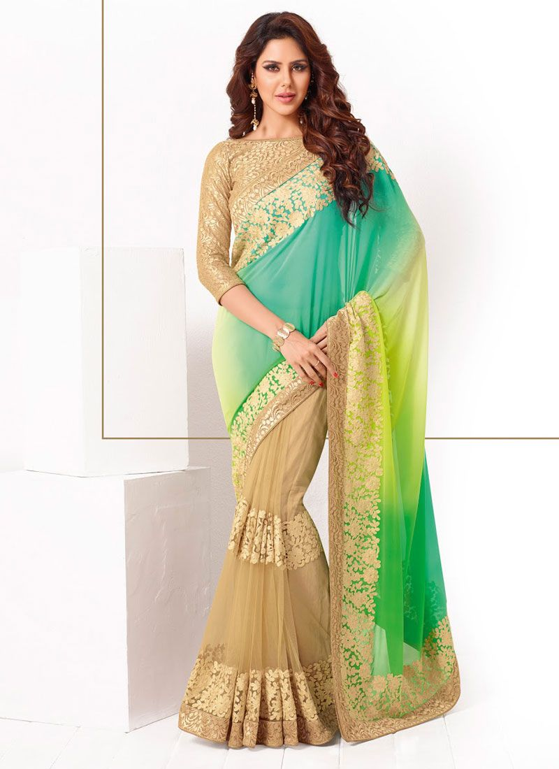 http://www.sareesaga.in/index.php?route=product/product&product_id=21534 Style:Designer SareeShipping Time:10 to 12 Days Occasion:Party FestivalFabric:Net Georgette Colour:Multi Colour Work:Embroidered Patch Border Work For Inquiry Or Any Query Related To Product, Contact :- 91-9825192886, +91-7405449283
