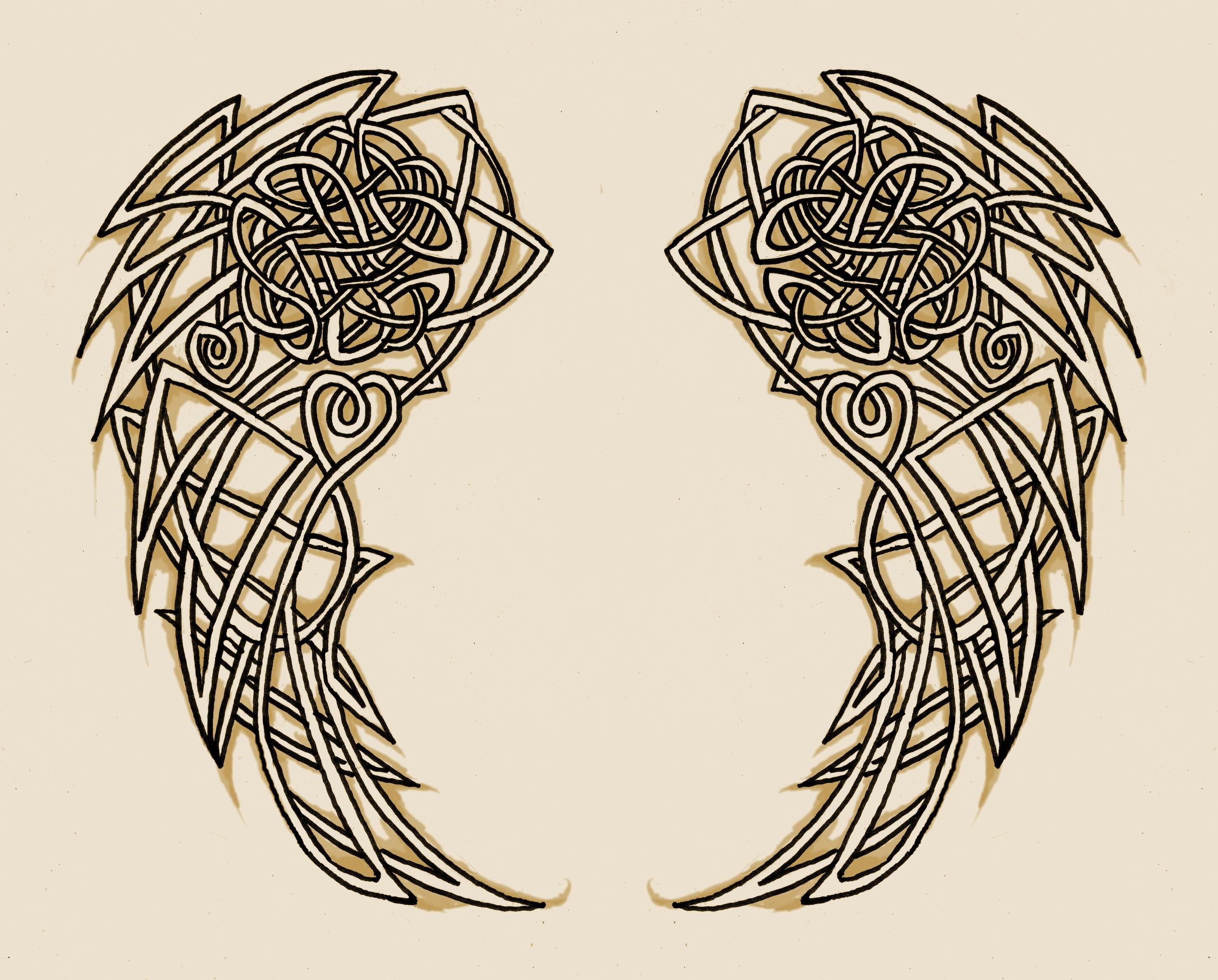 Wing tattoo design - Angel Wings Drawings For Tattoos Celtic Wings Tattoo Design Similar Posts