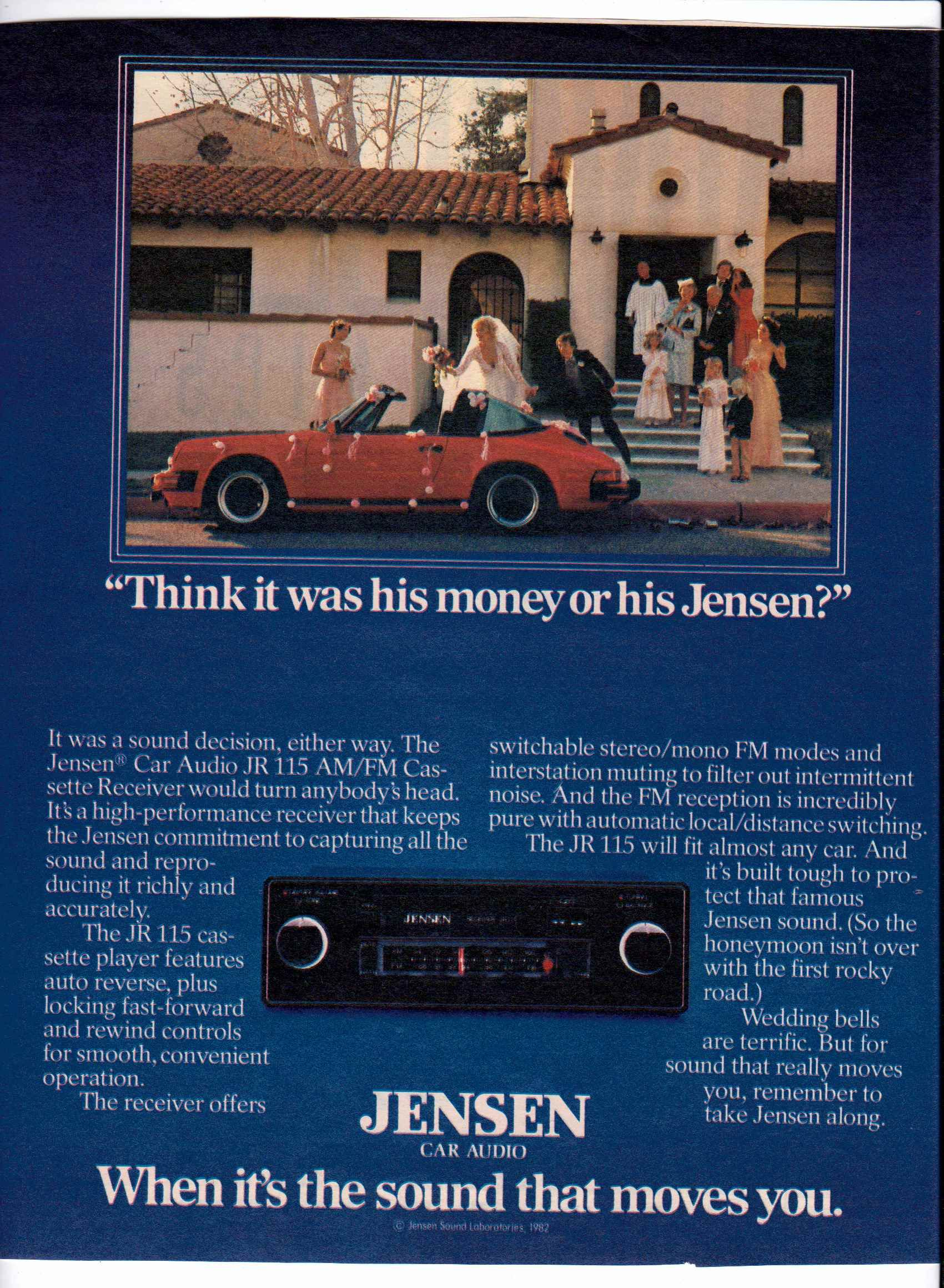 1982 JVC JR-115 cassette stereo ad  | Vintage Car Audio Ads