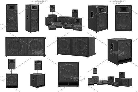 Speakers audio loud system set @creativework247