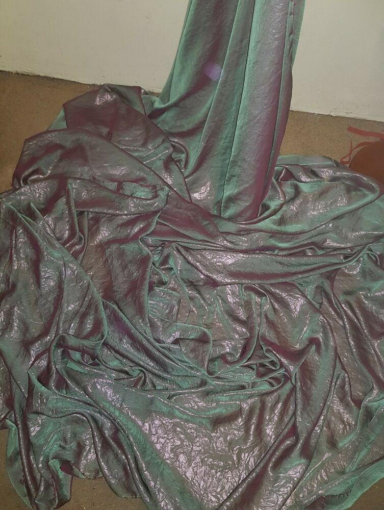 "1M TWO TONE BLACK GREY//gold shimmer   DRESS soft  CHIFFON FABRIC 58/"" WIDE"