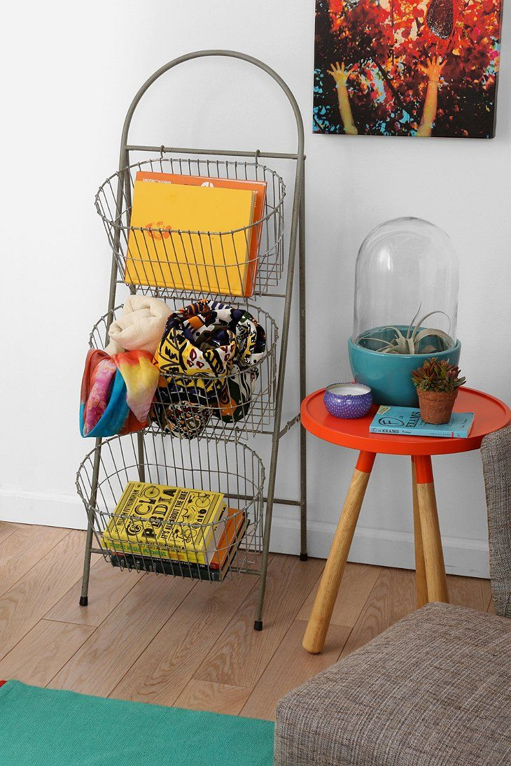 Ladder Storage Basket Urban Outfitters With Images Ladder
