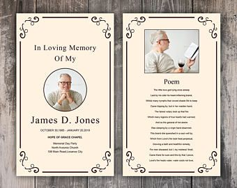 Funeral Prayer Card Template Editable Ms Word Photoshop Template Instant Download Funeral Prayers Prayer Cards Card Templates Free