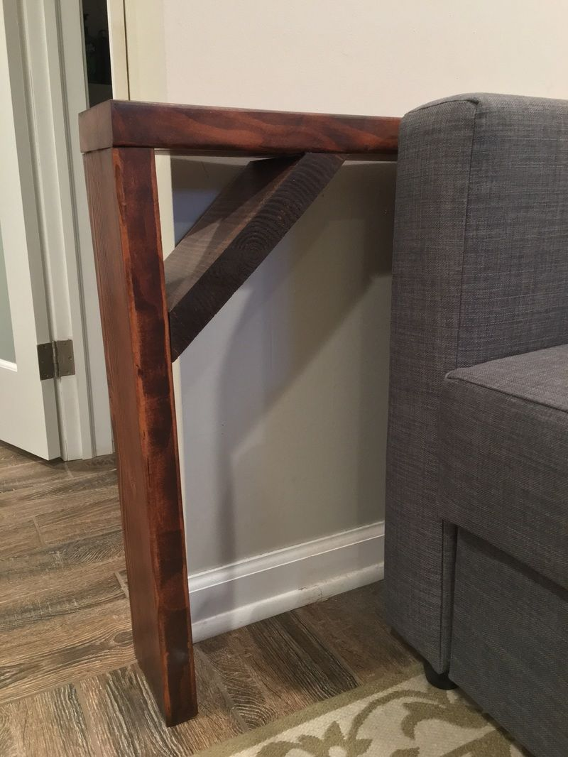 Easy Diy Behind The Couch Table Bye Bye Spilled Wine Diy Sofa