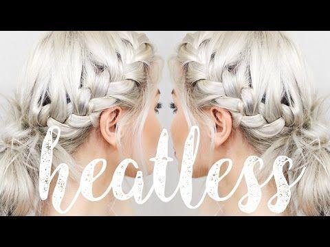 HOW TO: HEATLESS HAIRSTYLES   LYSSRYANN - YouTube