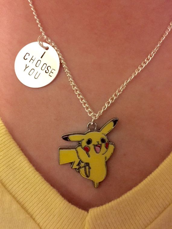 Pokemon Pikachu I Choose You Hand Stamped by FandomStamped on Etsy
