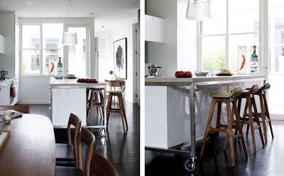 Natural modern interiors kitchen barkrukken