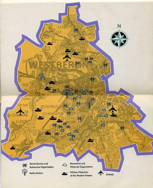 Map Of West Berlin Published In The Ussr Cold War 1962 Verden