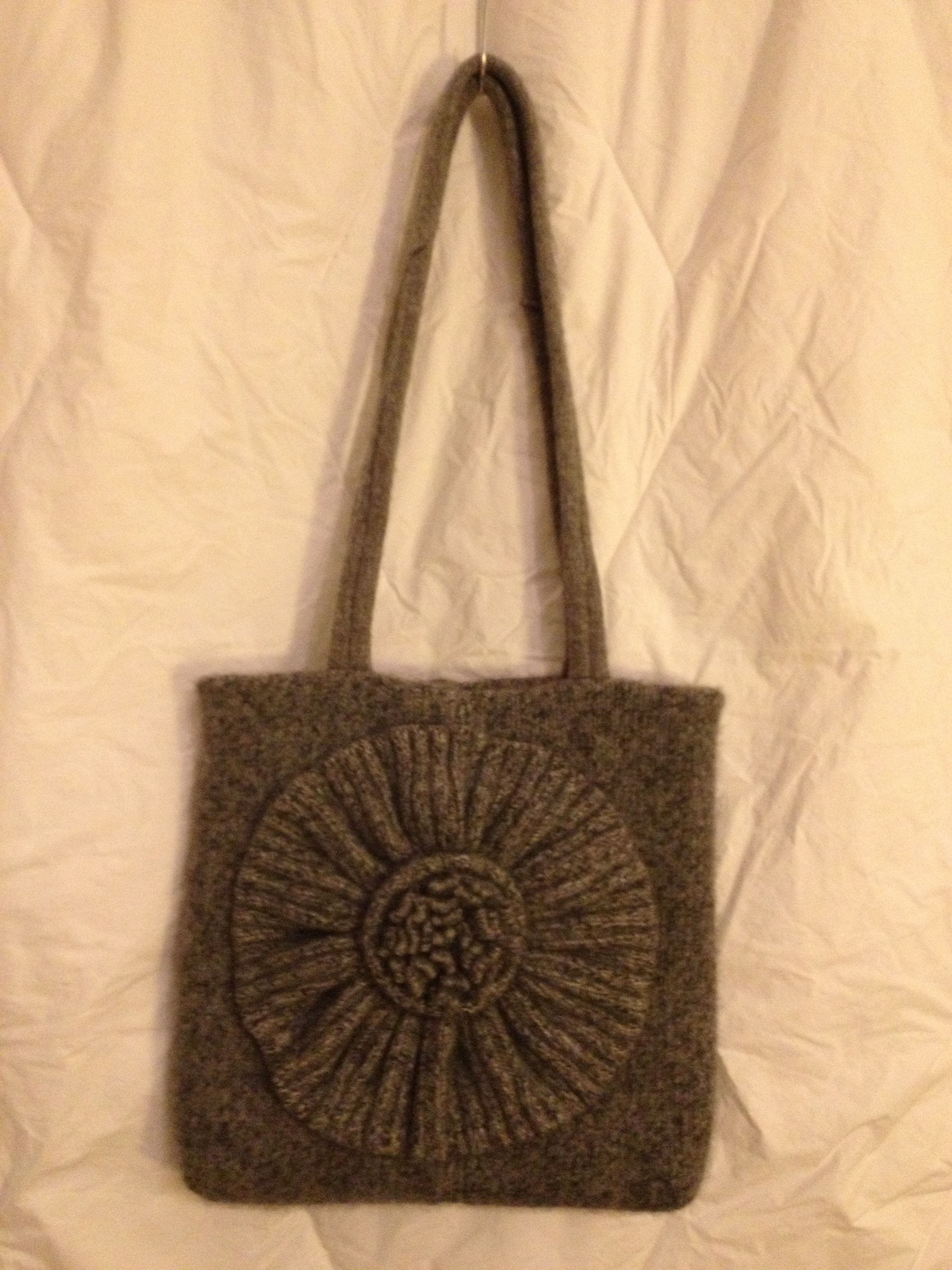 This Totally Upcycled Bag Is Made From A Lovely Thick Cashmere Sweater The Felted