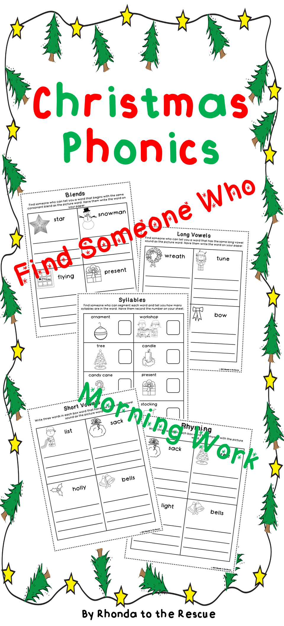 Christmas Activities  Phonics  Find Someone Who  Morning Work