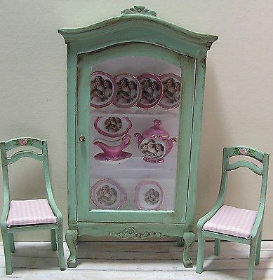 Dollhouse Miniature China Cabinet