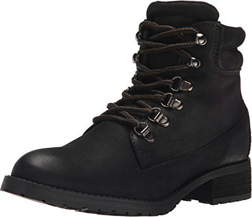 Steve Madden Womens Gantra Black Leather Boot 85 M >>> Check out the image by visiting the link.