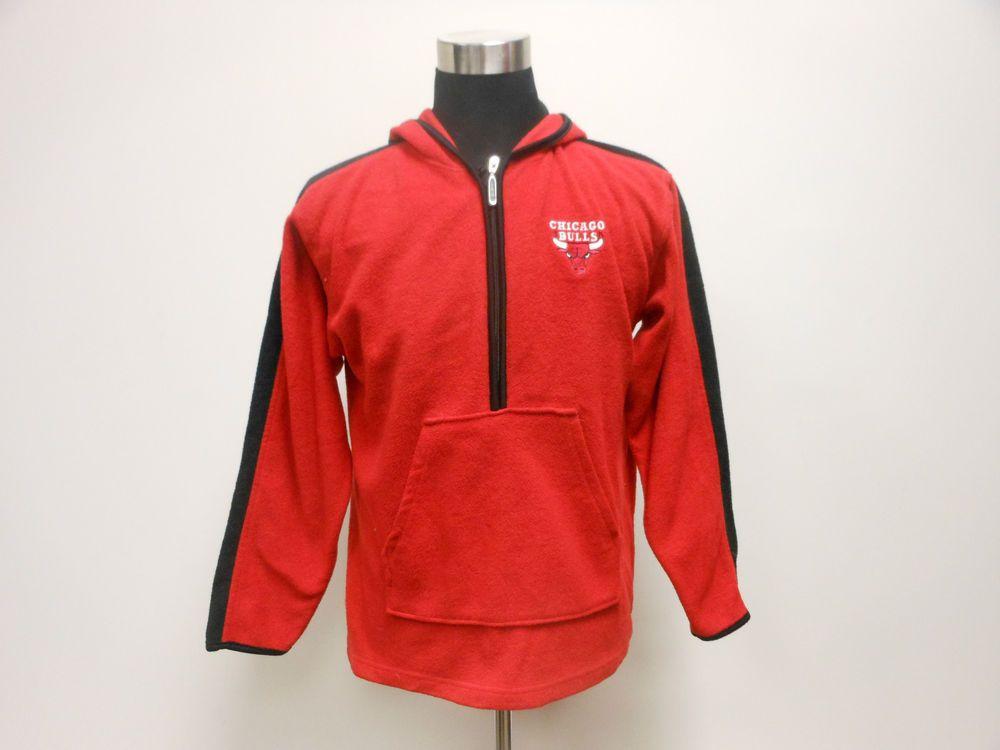 Vtg 90s Starter Chicago Bulls Fleece Hoody Sweatshirt sz L