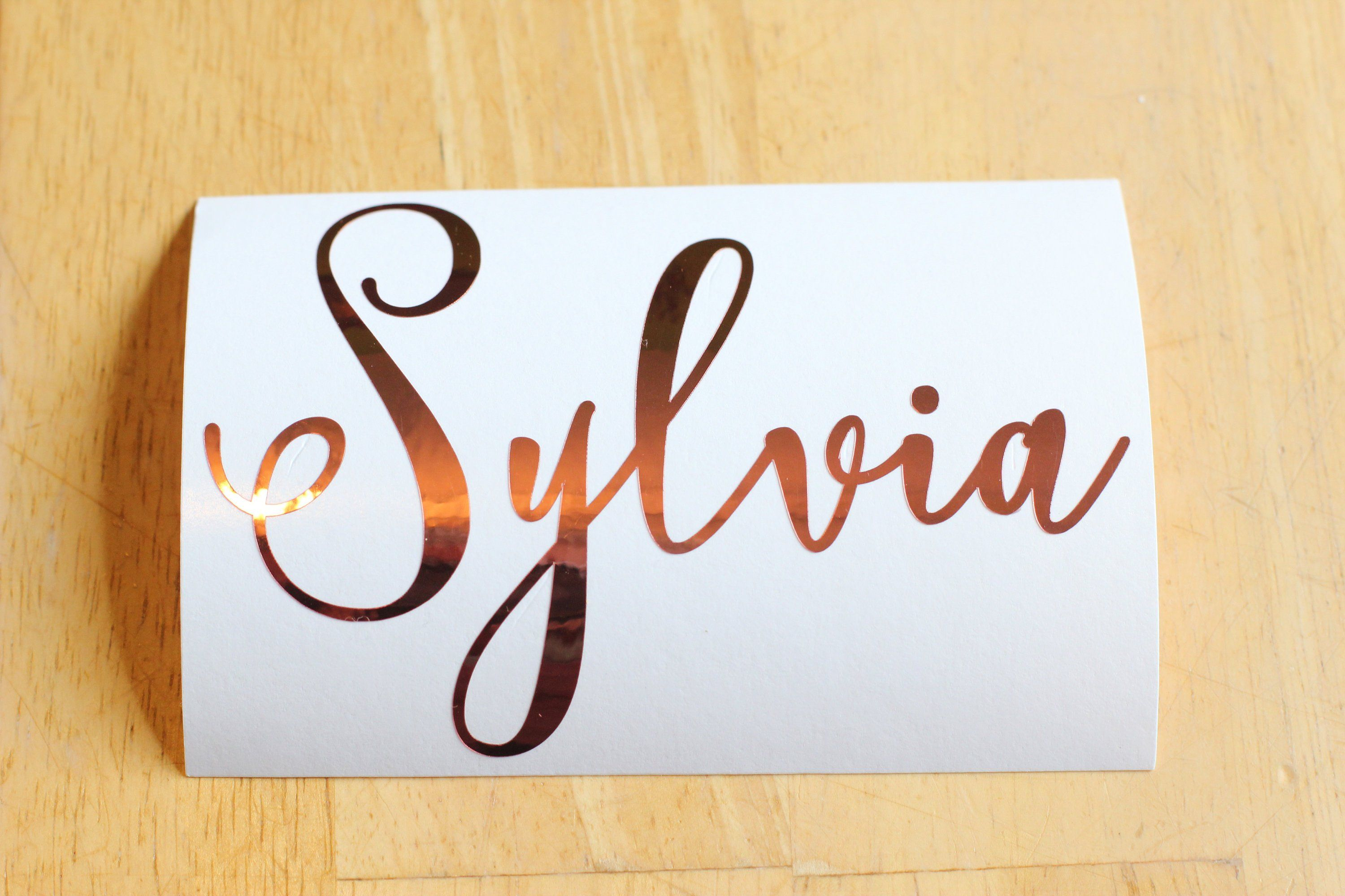 Personalized Labels Cup Decal