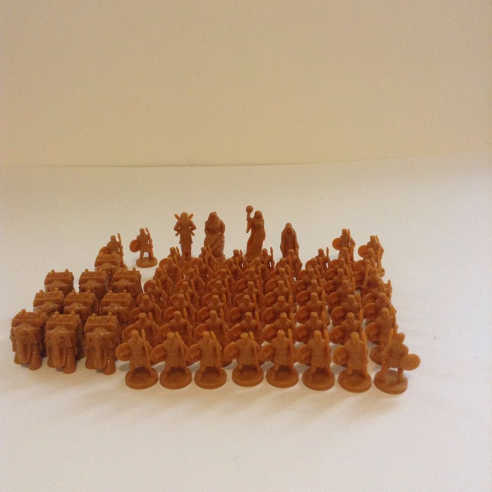 Risk Godstorm Greek Tan Replacement Board Game Figures Pieces #MiltonBradley
