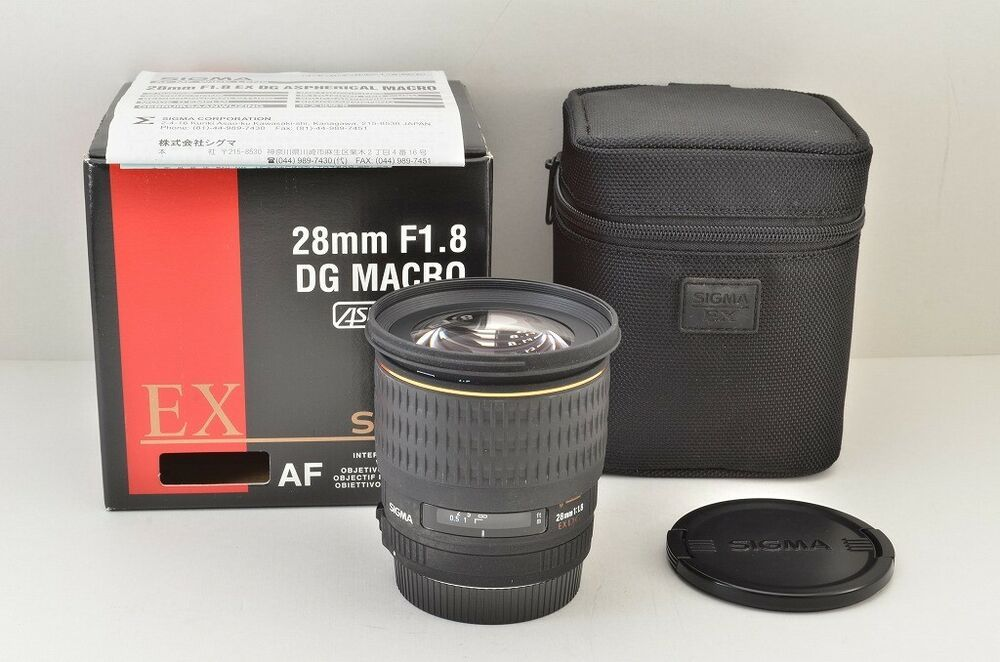 Sigma 28mm F1 8 Ex Dg Aspherique Macro Af Objectif Pour Canon Eos Ef Support Stuff To Buy Category Ebay