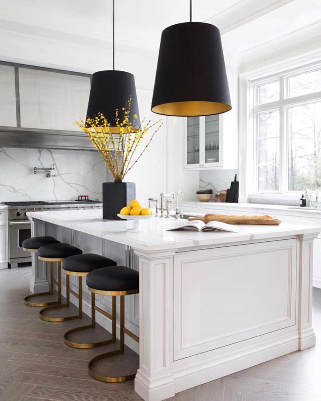 Oversized Pendants Over A Kitchen Island Are Always A Good Idea