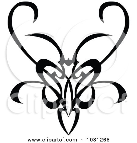 Clipart Black And White Tribal Swirl Butterfly Tattoo Design Element Royalty Free Vector Illustration Butterfly Tattoo Design Butterfly Tattoo Tattoo Designs