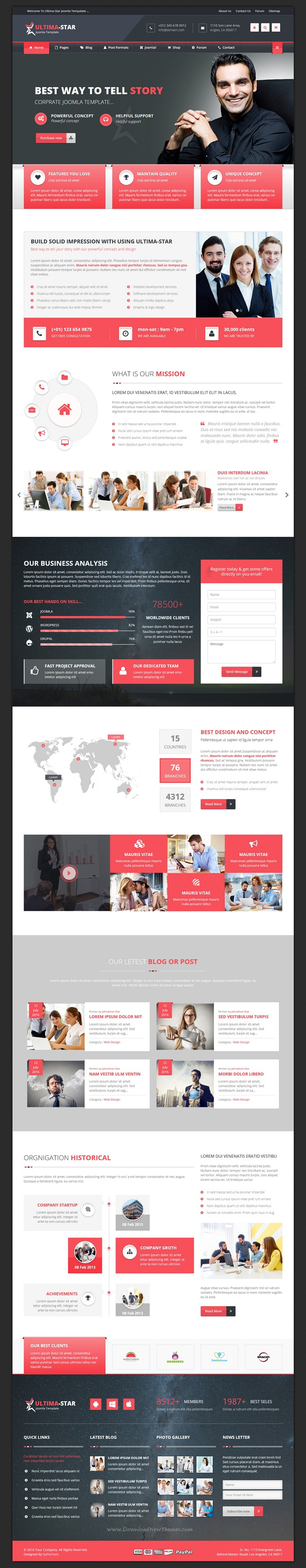 Ultima-star corporate joomla template | Pinterest | Template and ...