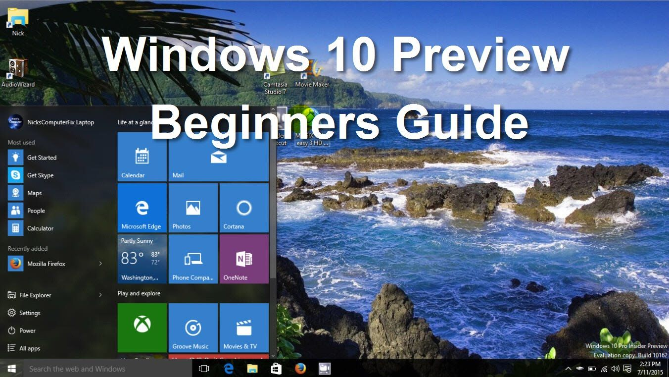 An easy beginners tutorial on windows 10 preview in this windows an easy beginners tutorial on windows 10 preview in this windows 10 review learn how baditri Choice Image