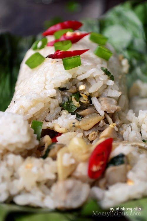 Nasi Bakar Isi Teri Dan Jamur Resep Makanan Asia Resep Masakan Indonesia Resep Masakan Asia